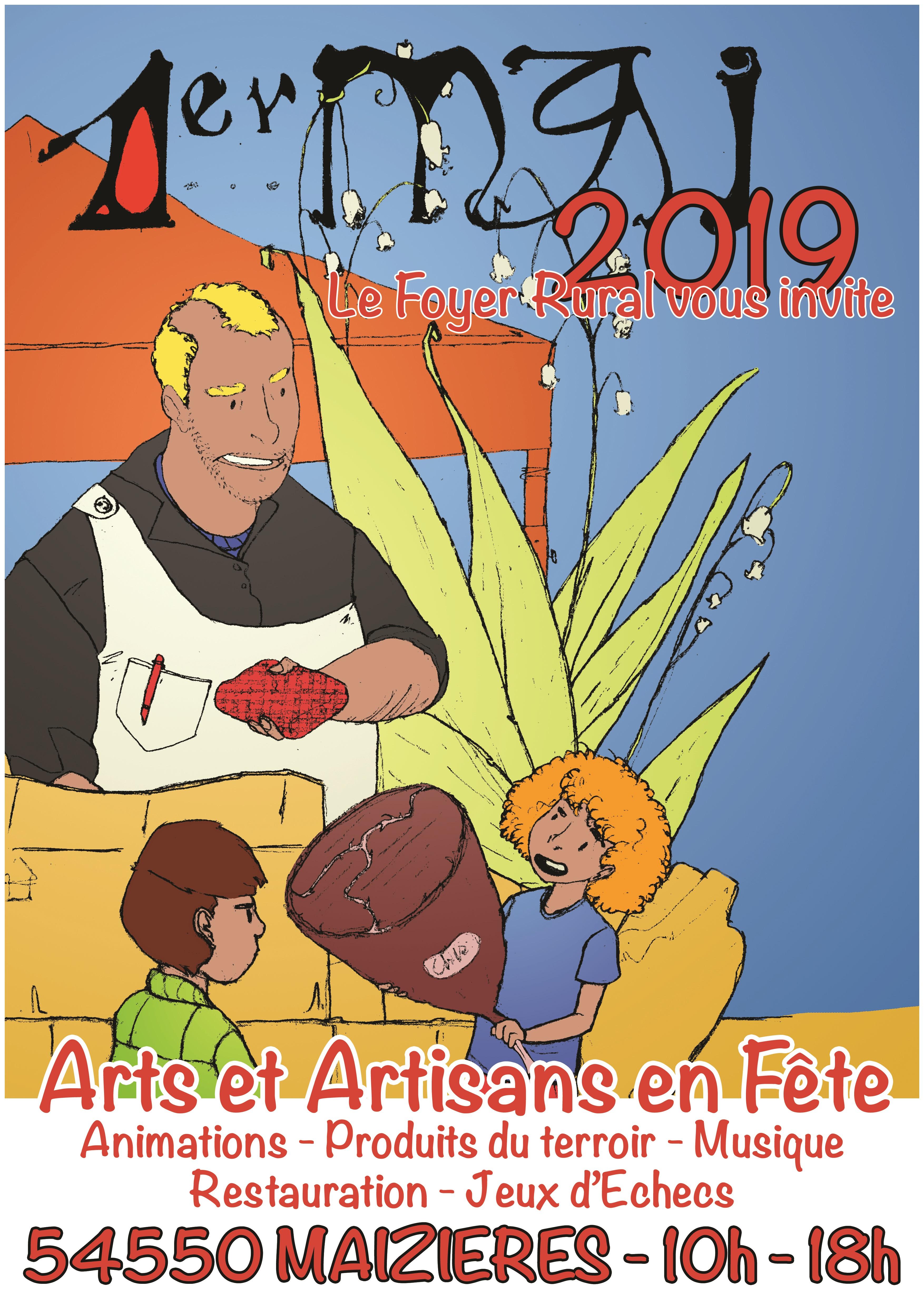 1 MAI 2019  10 h-18h Arts et Artisants en Fête
